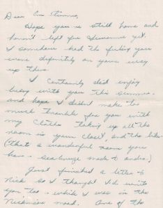 One of my dad's first letters to the woman who would be his wife for the coming 50 years