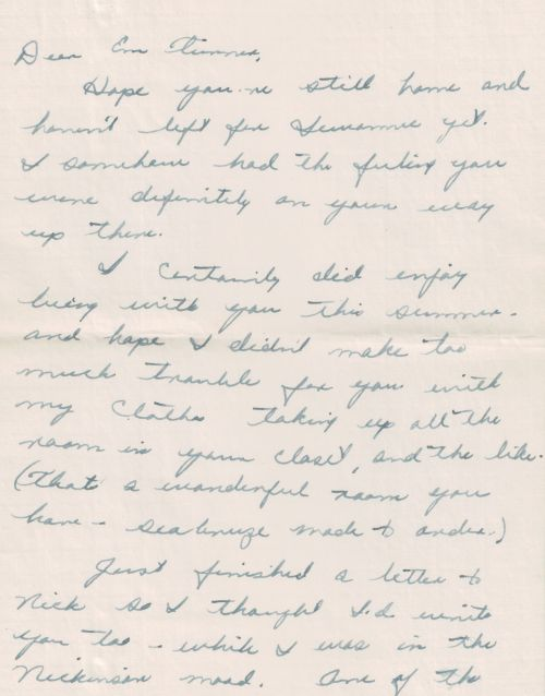 Letter from Dad to mom june 1948