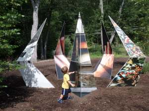 Kid-tested outdoor sculpture at Franklin, MA sculpture park
