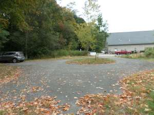 Parking area, Amphitheater, at back of Sanford Mills, Medway