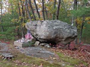 Airmen's memorial, along the Wolf Hill Trail, Smithfield, RI
