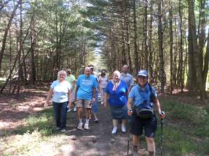 On the SNETT in Douglas, MA with group walk sponsored by the Douglas Library and Sr. Center