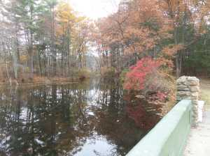 Chicken Brook flowing into Choate Pond