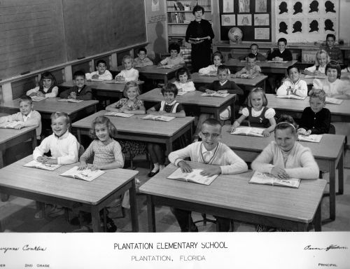 plantation elem 2nd grade 1963-64