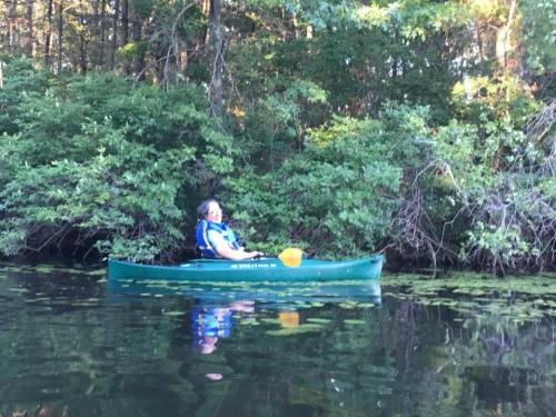 marjorie kayaking