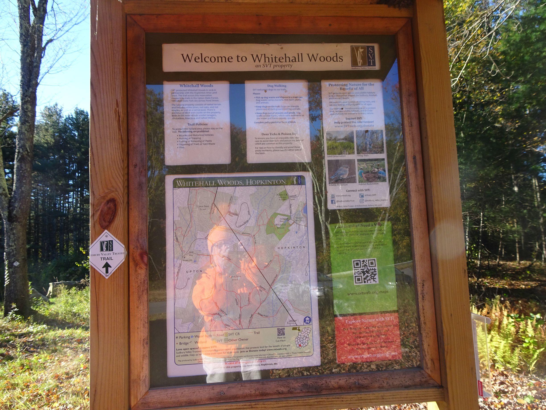 Trail kiosk for Whitehall Woods