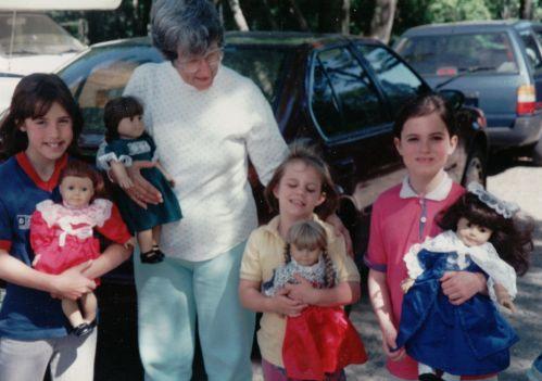 013 Grannie, g daughters 1993 American girl dolls