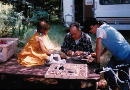 Caleb, Anna, Grampie camper