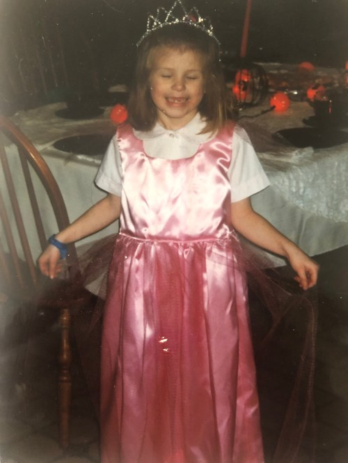 Julia in pink princess dress