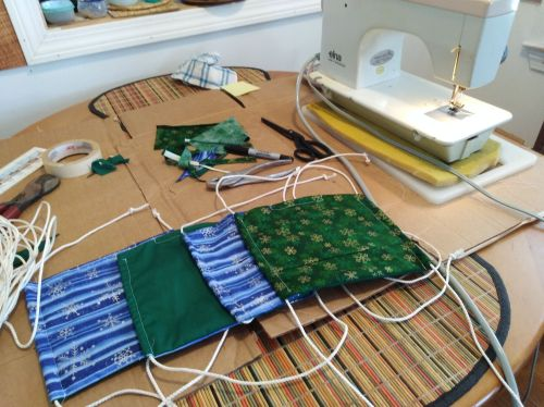 sewing machine, masks